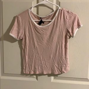 Pink crop top from forever 21